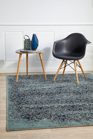 Mayfair Edge Denim Rug