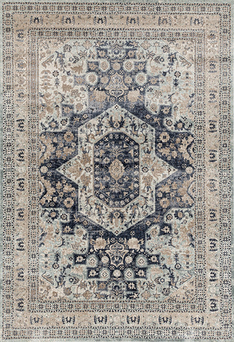 Esquire Brushed Transitional Blue Rug