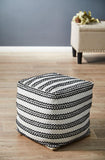 Black White Modern Cotton Ottoman