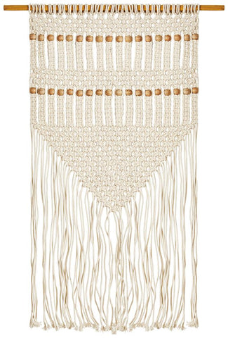 Ahfir Natural Macrame Tribal Wall Hanging