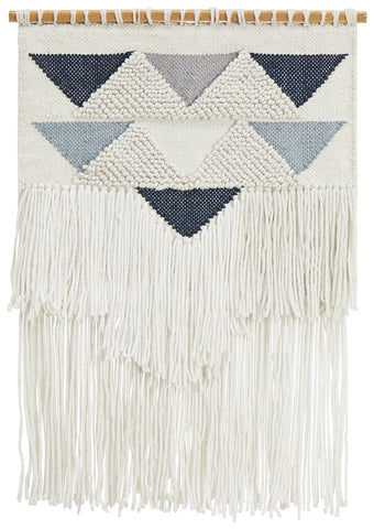 Babor Blue Tribal Tassel Wall Hanging