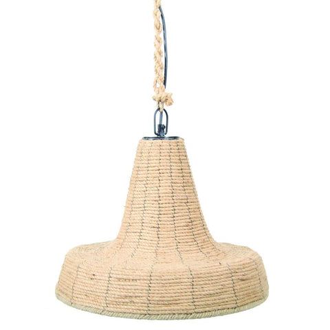 Natural Jute & Iron Hanging Light - Lost Design Society