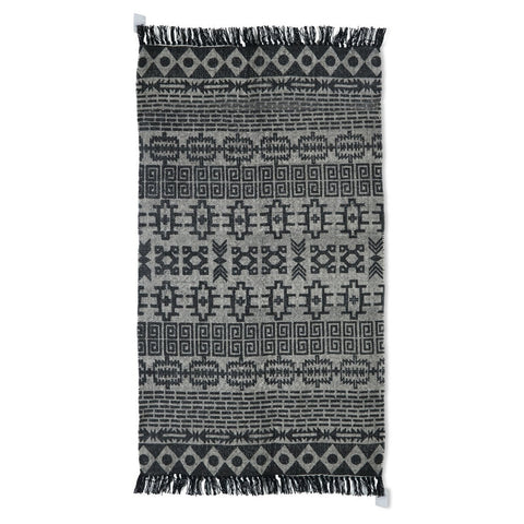 100% Cotton Kelim Rug Single Colour | 150x90x25cm - Lost Design Society