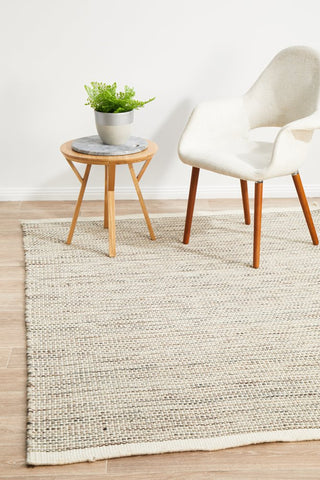 Madras Natural Flat weave Rug