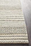 Hellena Braided Silver Felted Wool Rug