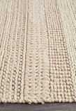 Hand Braided Champagne Felted Wool Rug