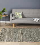 Java Flatweave Black Hemp Rug