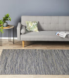 Java Flatweave Navy Hemp Rug