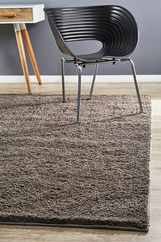 Strand  Shag Rug Dark Brown