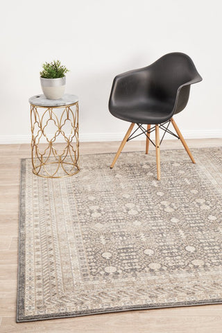 Breeze Orb Silver Transitional Rug