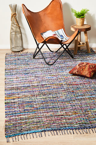 Primal Chindi Cotton Rug Blue