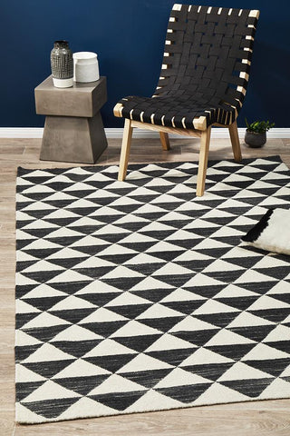 Astrid Geo Flat Weave Wool Rug - Lost Design Society
