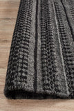 Ester Delicate Lace Woollen Rug Charcoal