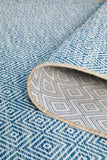 Promenade Outdoor Clara Diamond Blue Rug