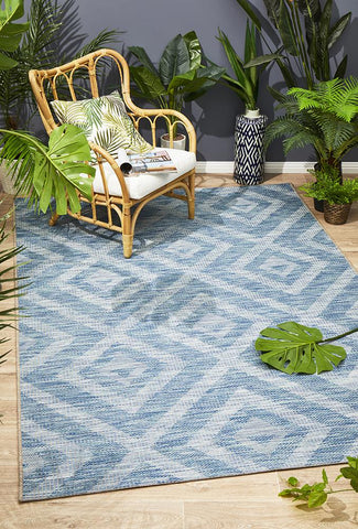 Promenade Indoor/Outdoor Cain Blue Rug
