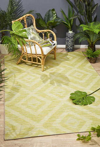 Promenade Indoor/Outdoor Cain Lime Green Rug