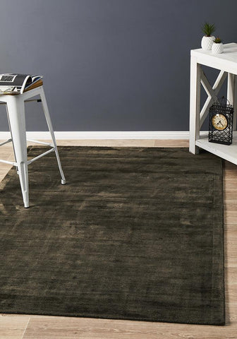 Dusk Modern Distressed Rug Chocolate