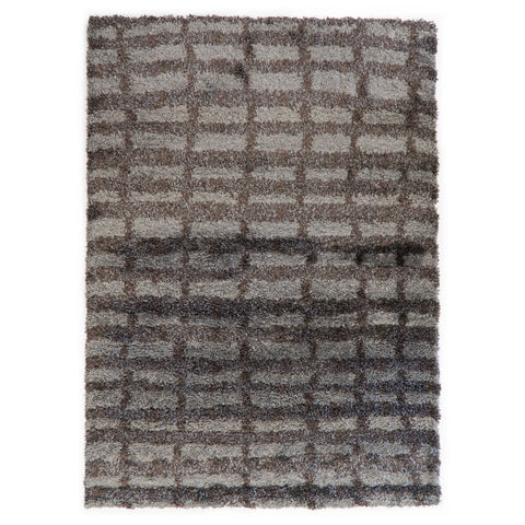 Optimum Geometric Rectangle Brown Rug