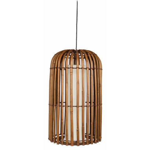 Cylinder Rattan Hanging Lamp - Natural - Lost Design Society