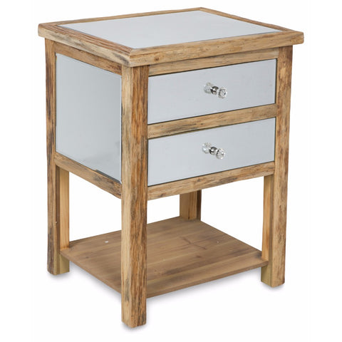 Arbor Two Drawer Cabinet | Arbor Wood | 48x40x61cm - Lost Design Society