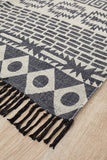 Bantu Flock Black Rug - Lost Design Society