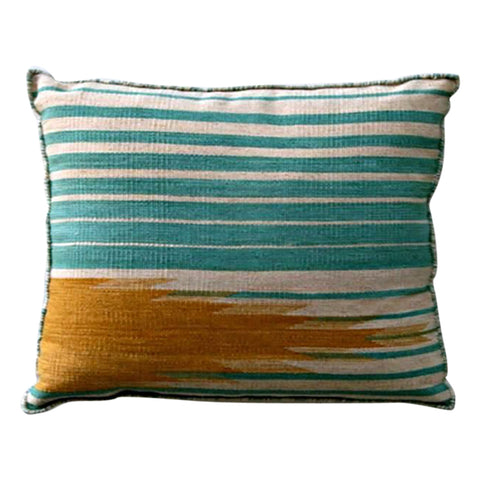 TURQUOISE & TANGERINE KILIM CUSHION | 60x60CM - Lost Design Society