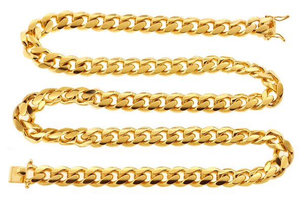 6mm Cuban Curb Link Chain in Yellow Gold - Capital Bling Gold HipHop Jewelry
