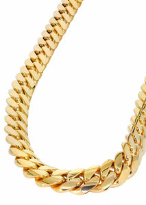 15mm Yellow Gold Cuban Link Chain-Chain--Capital Bling