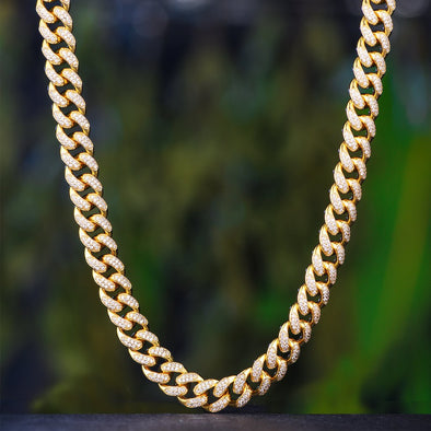 Diamond Cuban Link Diamond Chain (12mm) In Yellow Gold - Capital Bling Gold HipHop Jewelry