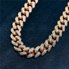 12mm Iced Out Cuban Link Choker CZ Diamond Chain (14k Gold) - Capital Bling Gold HipHop Jewelry