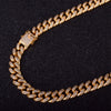Diamond Cuban Link Chain( 15mm) in Yellow Gold - Capital Bling Gold HipHop Jewelry