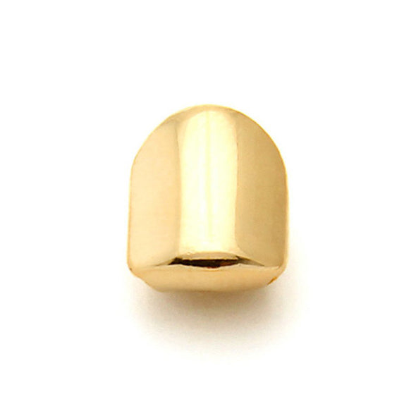 14K Gold Single Tooth Cap Grills - Capital Bling Gold HipHop Jewelry