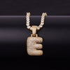 "14k Gold ""E"" Bubble Letter Necklace - Capital Bling Gold HipHop Jewelry"