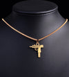 Micro Uzi Pendant in Yellow Gold - Capital Bling Gold HipHop Jewelry