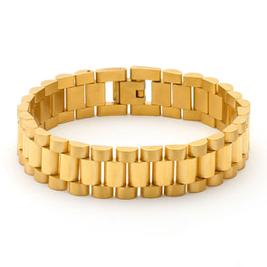 14k Gold Watch Link Bracelet - Capital Bling Gold HipHop Jewelry