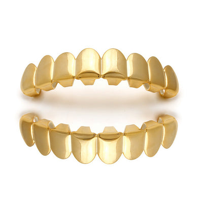 14k Yellow Gold Custom Grills - Capital Bling Gold HipHop Jewelry