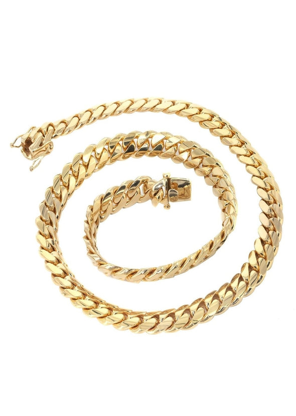 15mm Yellow Gold Cuban Link Chain - Capital Bling Gold HipHop Jewelry