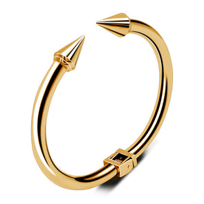 18k Gold Arrowhead Bangle - Capital Bling Gold HipHop Jewelry