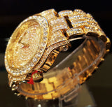 18k Gold / Rose Gold / Stainless Steel Iced Out Bling Watch-Watches--Capital Bling