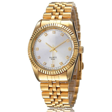 18k Gold DayDate Style Watch - Capital Bling Gold HipHop Jewelry