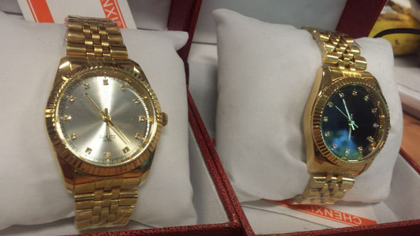 DayDate Style Watch in Yellow Gold - Capital Bling Gold HipHop Jewelry