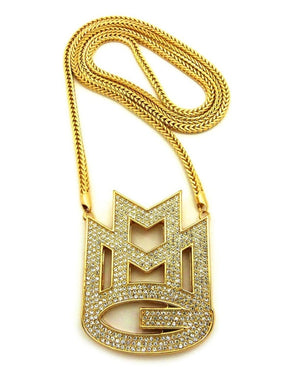 14k Yellow Gold MMG Chain / Pendant (Rick Ross) - Capital Bling Gold HipHop Jewelry