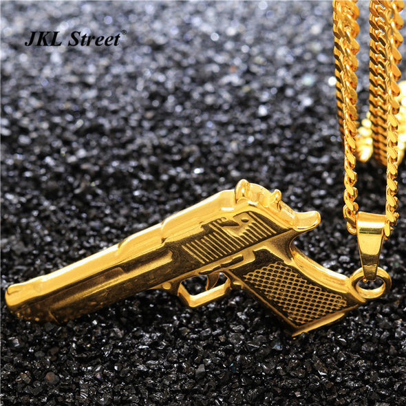 Desert Eagle Pendant in Yellow Gold - Capital Bling Gold HipHop Jewelry