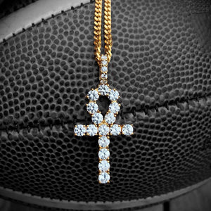 14k Gold Diamond Ankh Cross - Capital Bling Gold HipHop Jewelry