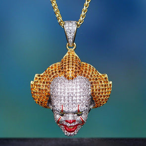 (Limited Edition) 14k Gold Diamond Pennywise Clown Pendant - Capital Bling Gold HipHop Jewelry