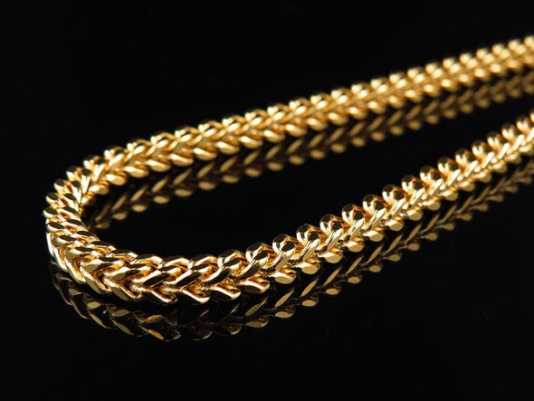 6mm Yellow Gold Franco Chain 22 Inch - Capital Bling Gold HipHop Jewelry