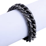 18mm Black Gun Metal Chain Bracelet - Capital Bling Gold HipHop Jewelry
