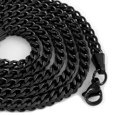 Black Gunmetal Cuban Curb Link Chain - Capital Bling Gold HipHop Jewelry