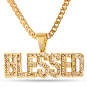Diamond Blessed Pendant in Yellow Gold - Capital Bling Gold HipHop Jewelry