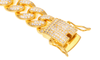 Diamond Cuban Link Bracelet (12mm) In Yellow Gold - Capital Bling Gold HipHop Jewelry